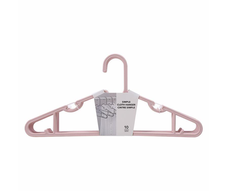 Հագուստի կախիչ (10 հատ, վարդագույն)
