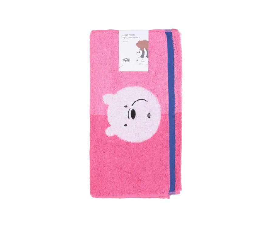 Ձեռքի սրբիչ We Bare Bears (վարդագույն)