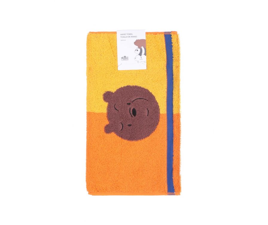 Ձեռքի սրբիչ We Bare Bears (դեղին-նարնջագույն)