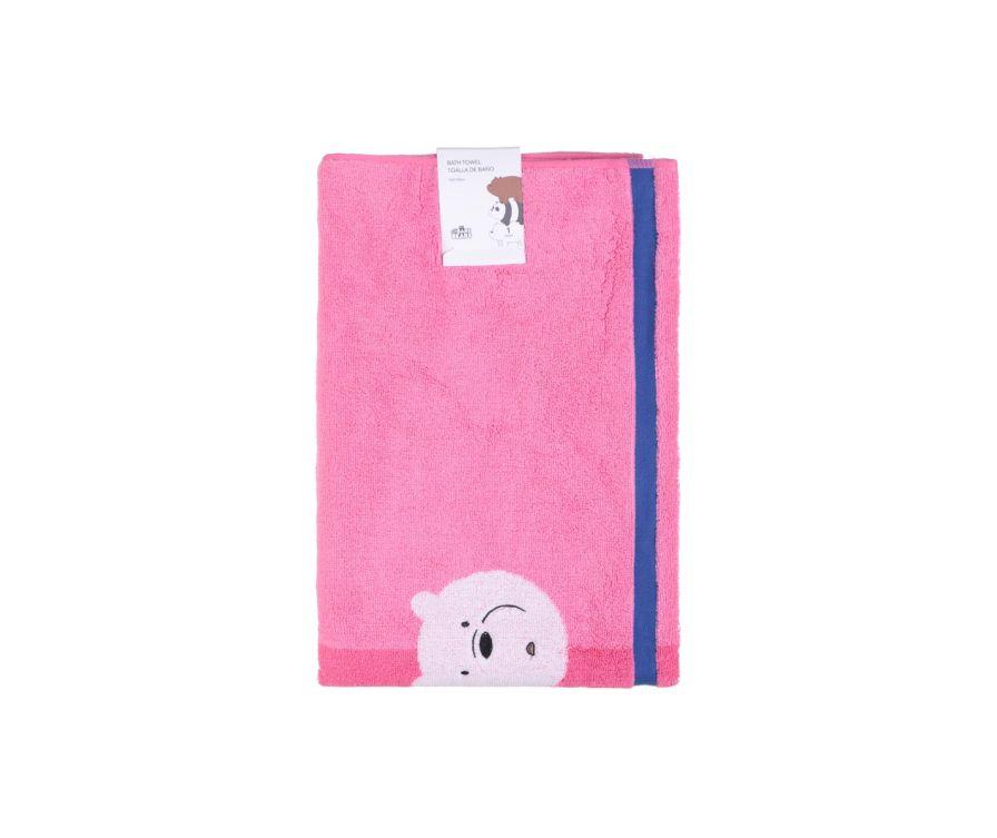 Լոգանքի սրբիչ We Bare Bears (վարդագույն)