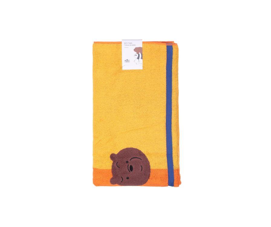 Լոգանքի սրբիչ We Bare Bears (դեղին-նարնջագույն)