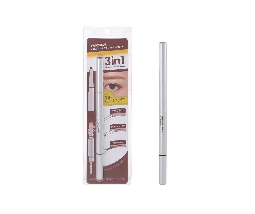 Հոնքերի մատիտ 3-ը 1-ում (մուգ շագանակագույն)