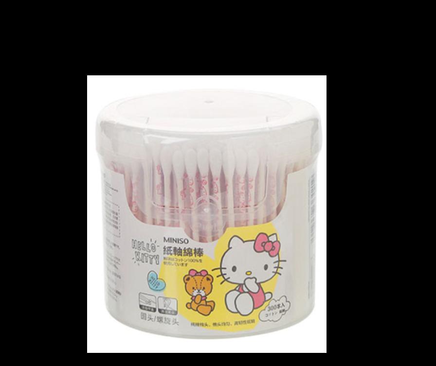 Բամբակյա փայտիկներ Sanrio Hello Kitty  (300 հատ)